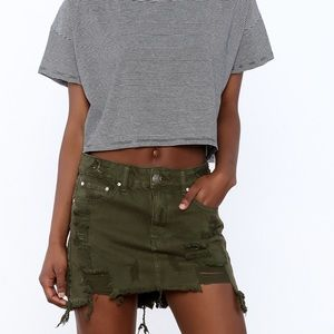 Boxy Crop Top with Tie Back